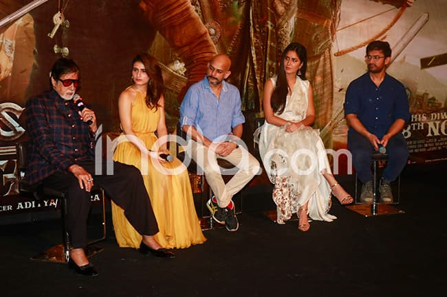 Thugs of Hindostan Trailer Launch  Aamir Khan  Amitabh Bachchan  Katrina Kaif  Fatima Sana Saikh Along With Director Vijay Krishna Acharya