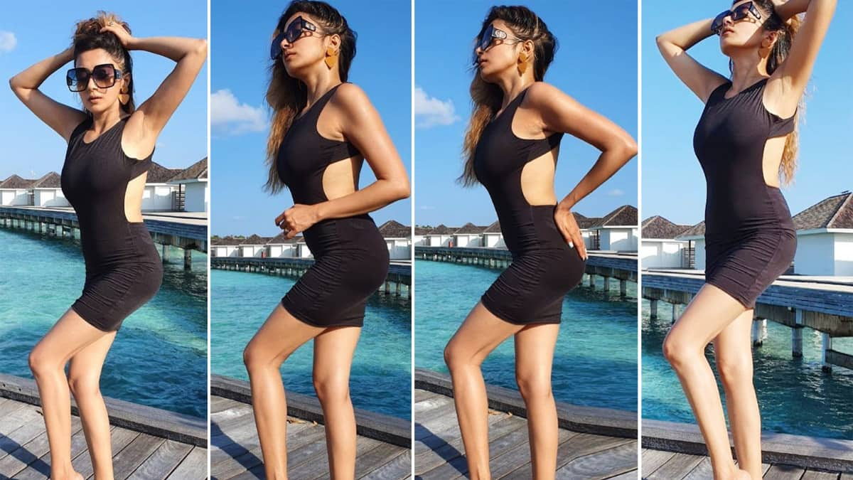Tina Datta Wears Rs 3K Black Dress For Her Maldives Vacay