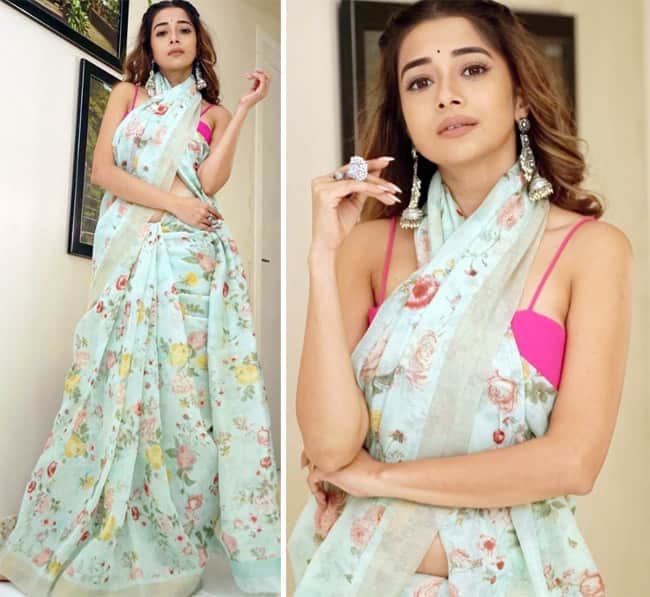 Tinaa Dattaa   s Summery Look in Long Floral Saree Will Leave You Gasping For Breathe