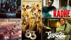 Top Hindi Movies of 2021: List of The Biggies Finally Hitting The Screens After Pandemic