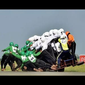 UNBELIEVABLE! Indian Army creates world record with 58 men riding on one bike, see pics