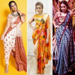 From Pooja Banerjee to Hina Khan, And Erica Fernandes, Here Are Actors Whose Glamorous Saree Looks Can Leave You Mesmerised
