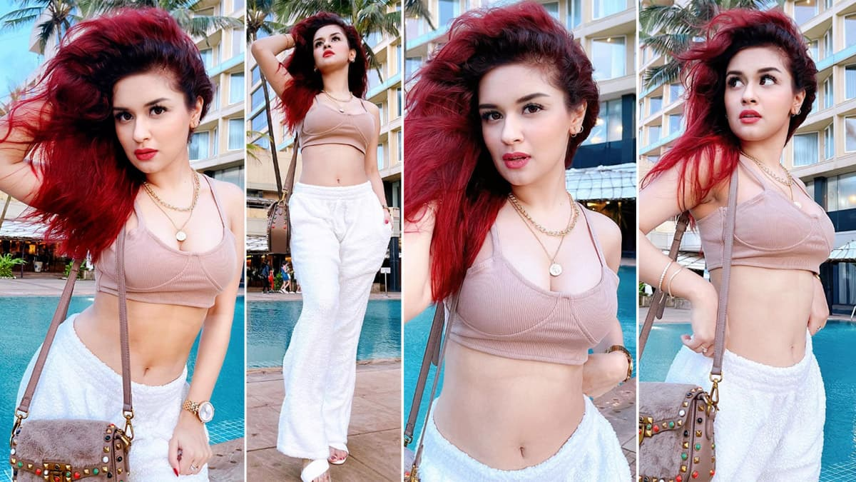 TV hottie Avneet Kaur is a diva as she flaunts sexy figure in bralette and pants