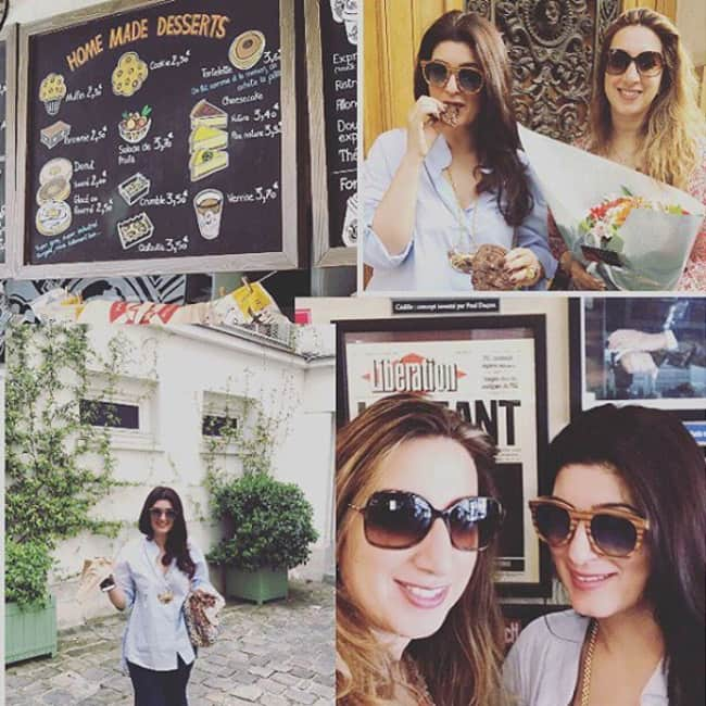 Twinkle Khanna holidaying in Paris