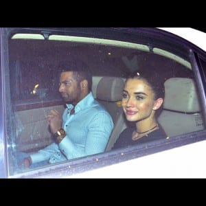 Spotted!  Amy Jackson on a late night dinner date with Upen Patel, see pics