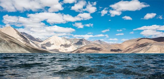 Upper part of Pangong Tso  Ladakh