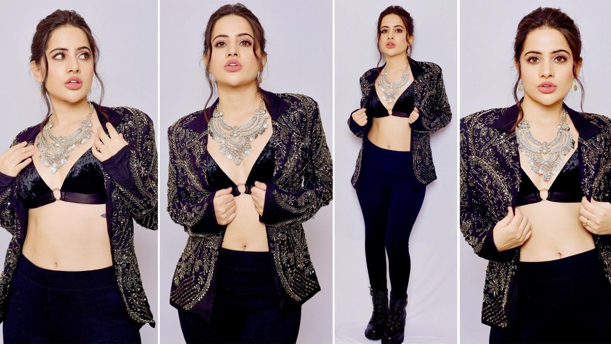 Urfi Javed   s latest sensuous photoshoot in hot black suit