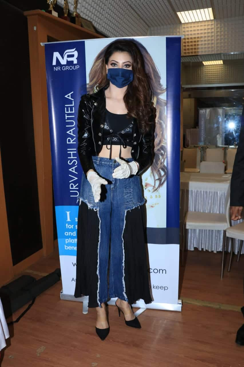Urvashi Rautela attends first public event post lockdown