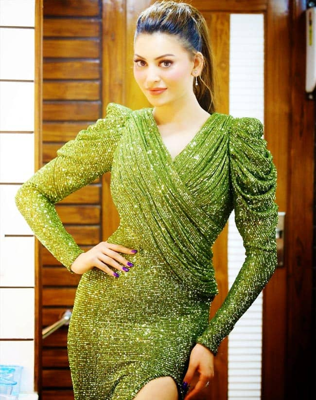 Urvashi Rautela is Drop Dead Gorgeous in Full Sleeves Sparkly Gown