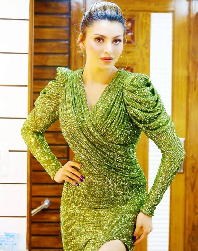 Urvashi Rautela is Ethereal in Green Gown