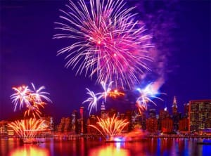 Spectacular Fireworks Mark 242nd American Independence Day