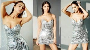 Vaani Kapoor Looks Smoking Hot in Dazzling Hot Mirror Dress- Check Viral Photos