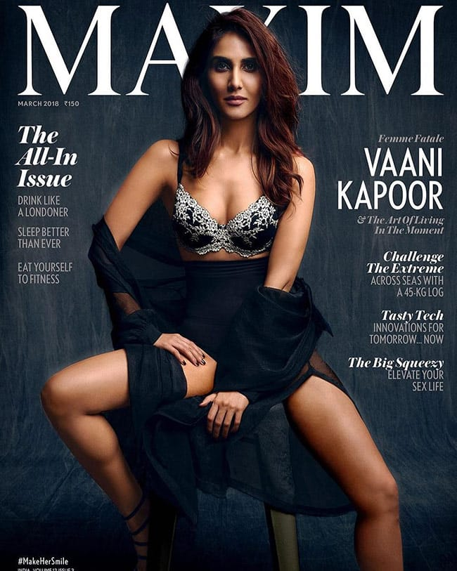Vaani Kapoor on cover of Maxim magazine March issue