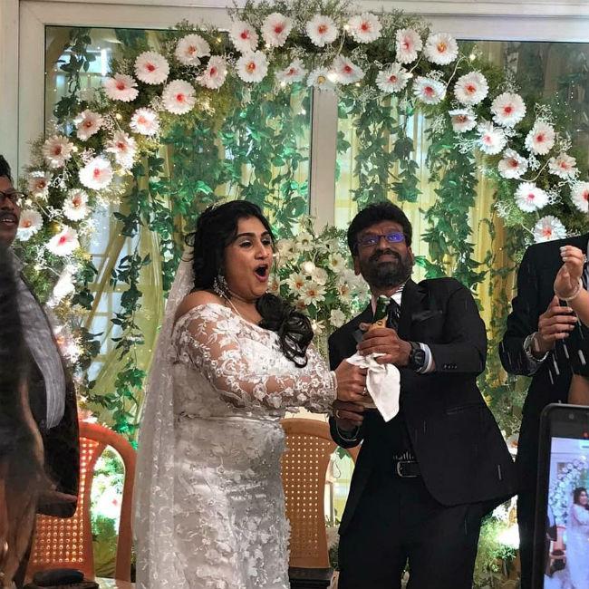 Vanitha Vijayakumar s wedding moments