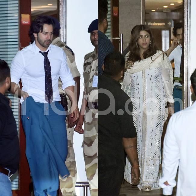 Varun Dhawan and Ekta Kapoor clicked at Mumbai airport