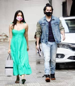 Varun Dhawan and Kiara Advani Snapped Together Outside A Production Office