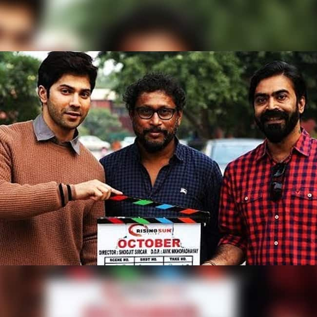 Varun Dhawan on sets of October movie