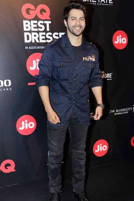 Varun Dhawan poses during GQ Best Dressed Party