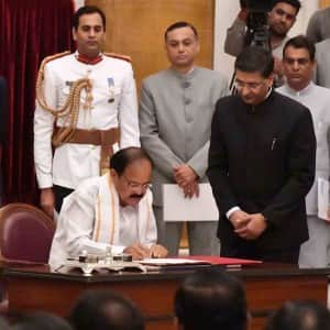 PICS: M Venkaiah Naidu takes oath at the 13th Vice President of India!