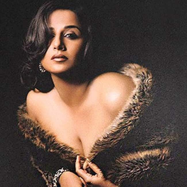 Vidya Balan flaunts her clevahe  during sultry photo shoot