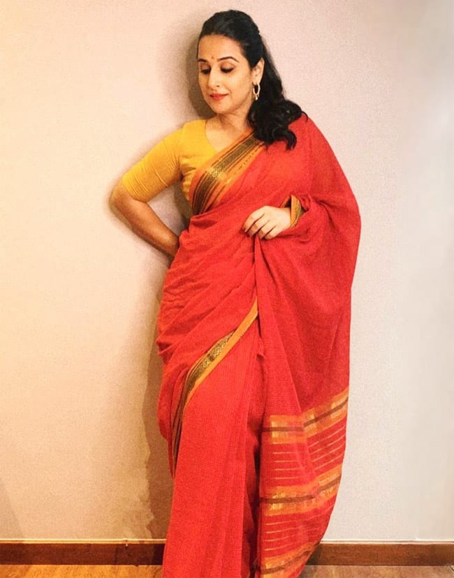 Vidya Balan in a cotton saree