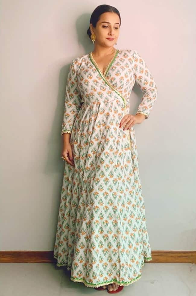 Vidya Balan in a maxi dress