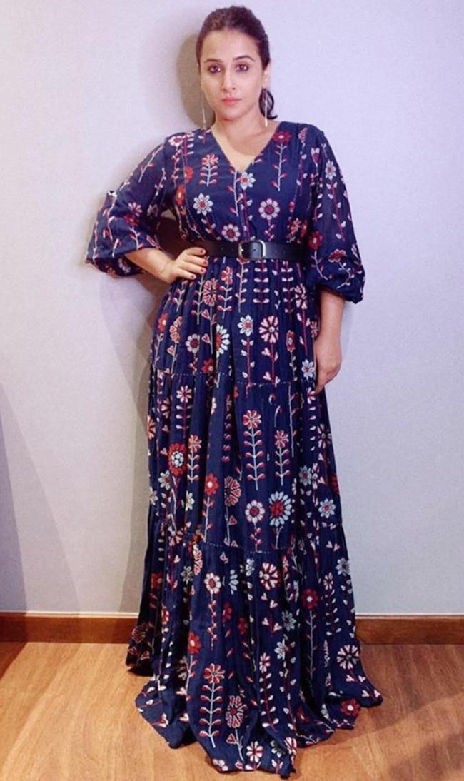 Vidya Balan in a Payal Pratap chanderi silk saree