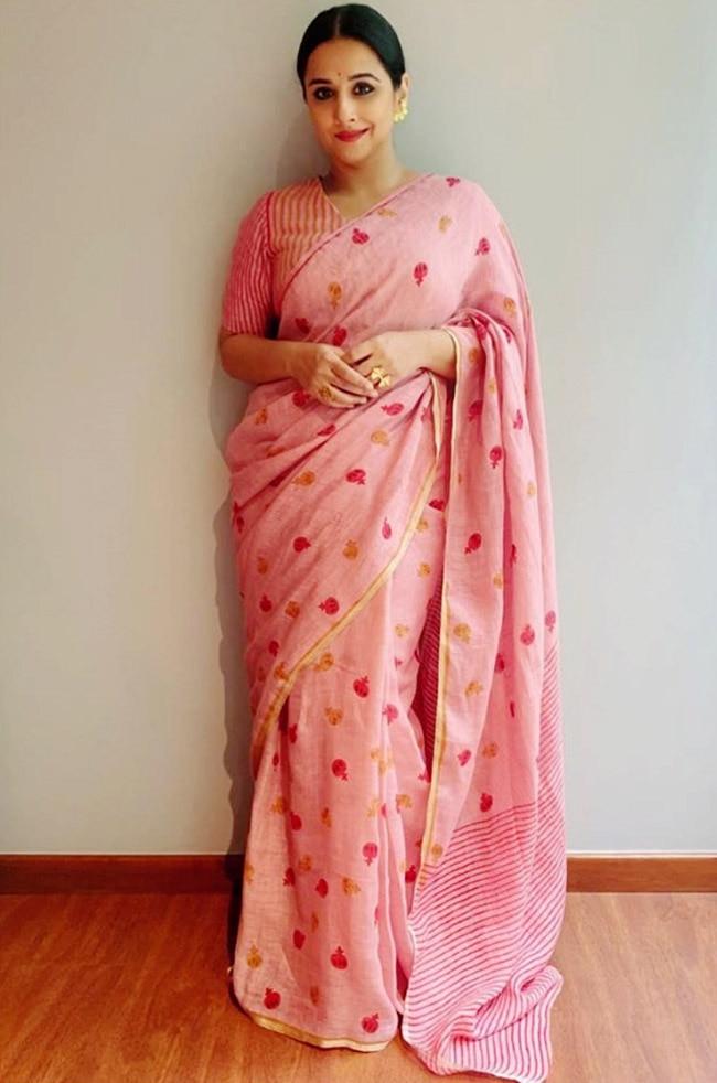 Vidya Balan in a pink saree | 15 Times Vidya Balan Stunned in ...