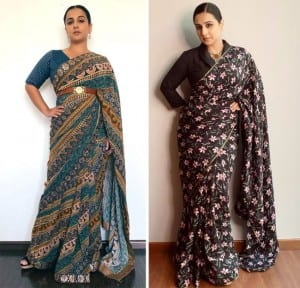 Vidya Balan Stuns In Saree Yet Again, Opts For A Black Floral Saree For A Webinar