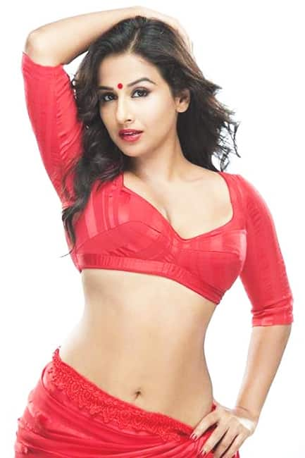 Vidya Balan poses for a red hot picture