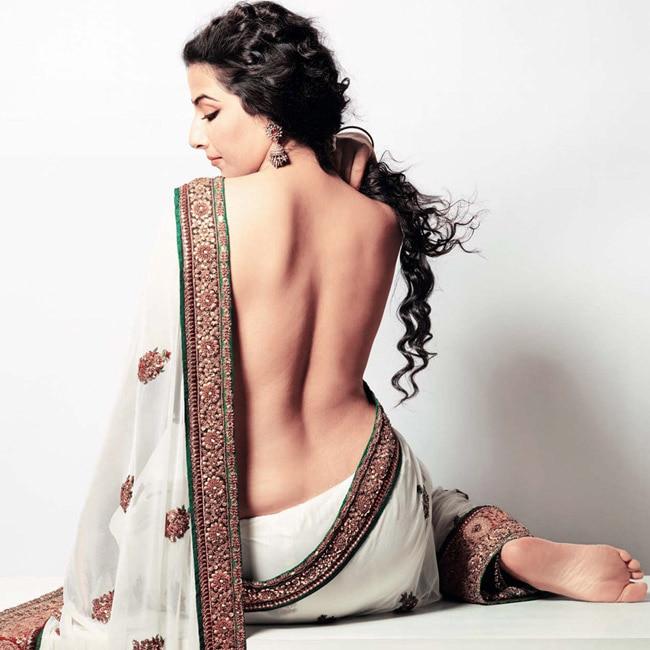 Vidya Balan shows off her nude back during sexy photoshoot