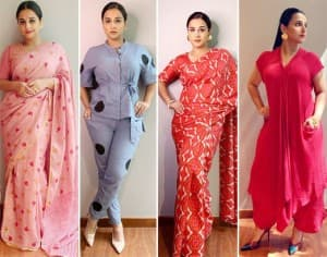 15 Times Vidya Balan Stunned in Handloom Outfits as She Went 'Vocal For Local' While Promoting Shakuntala Devi