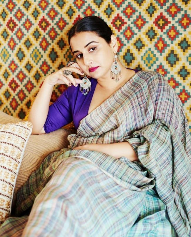 Vidya Balan   s tryst with six yards of sheer elegance