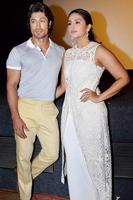 Vidyut Jamwal and Huma Qureshi during launch of    Tumhe Dillagi