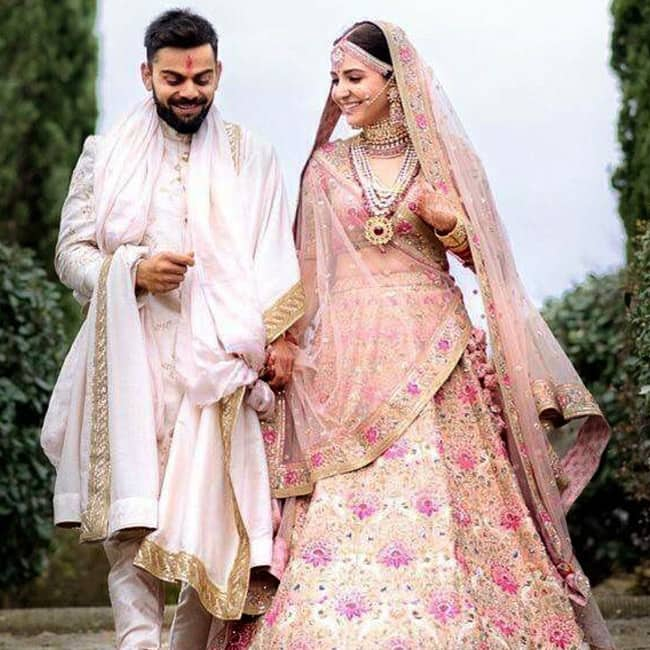 Virat Kohli and Anushka Sharma on their wedding day