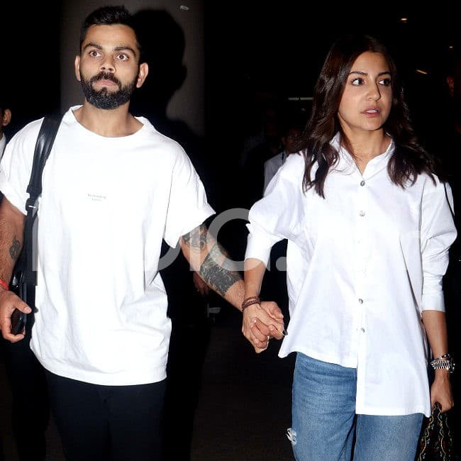 Virat Kohli and Anushka Sharma walk hand in hand
