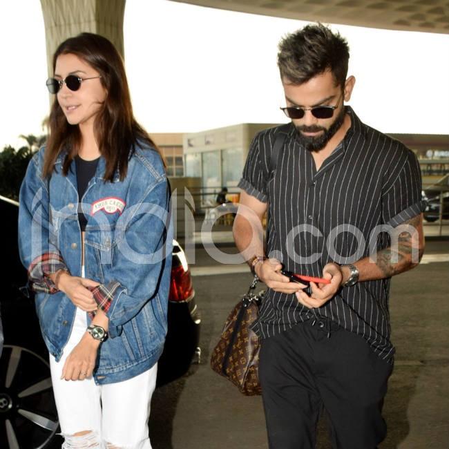 Virat Kohli Anushka Sharma head out of Mumbai