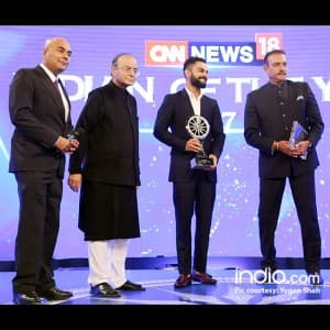 PICS: Virat Kohli, Miss World Manushi Chillar receive prestigious awards at CNN News 18 event