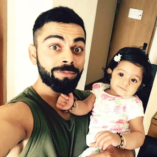 Virat Kohli shares a cute picture with baby Hinaya on Instagram