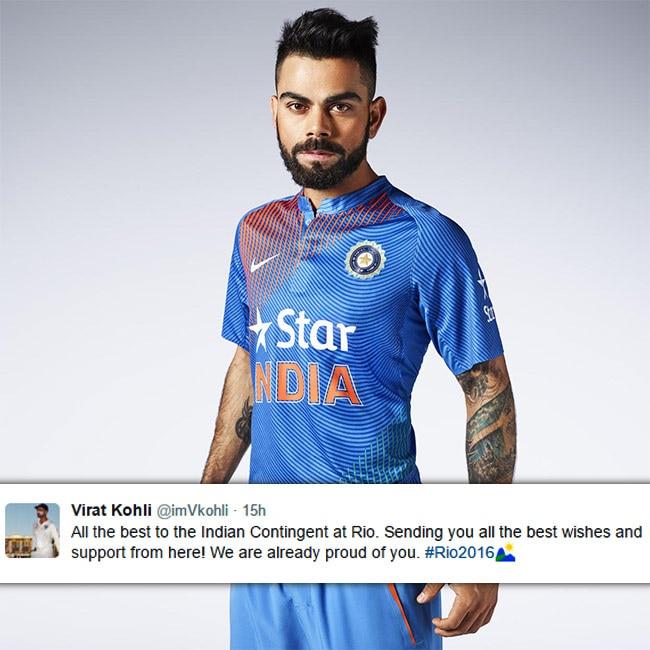 Virat Kohli wishes Indian contingents at Rio Olympics 2016