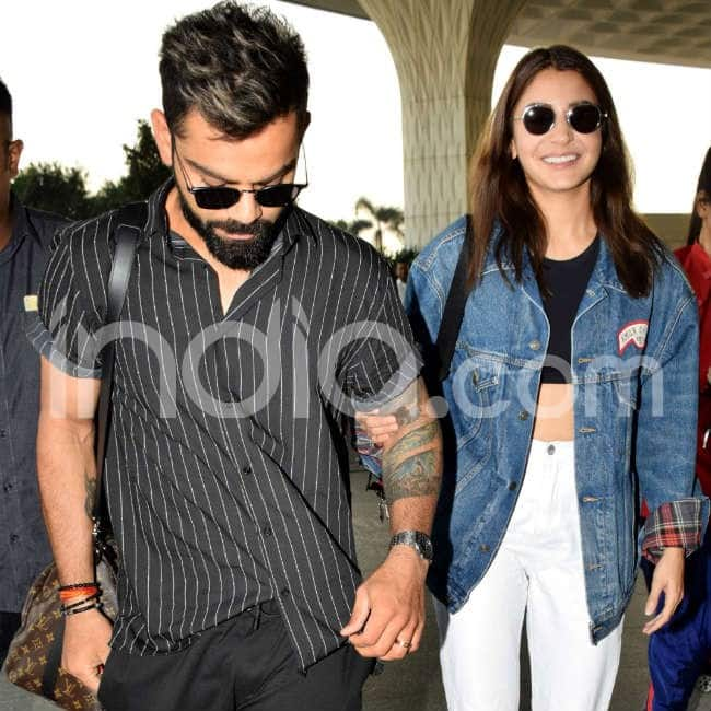 Virushka kept their look perfect for airport