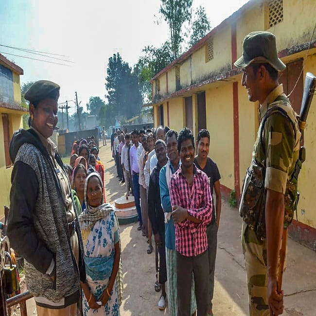 Voting in Naxal affected Bastar