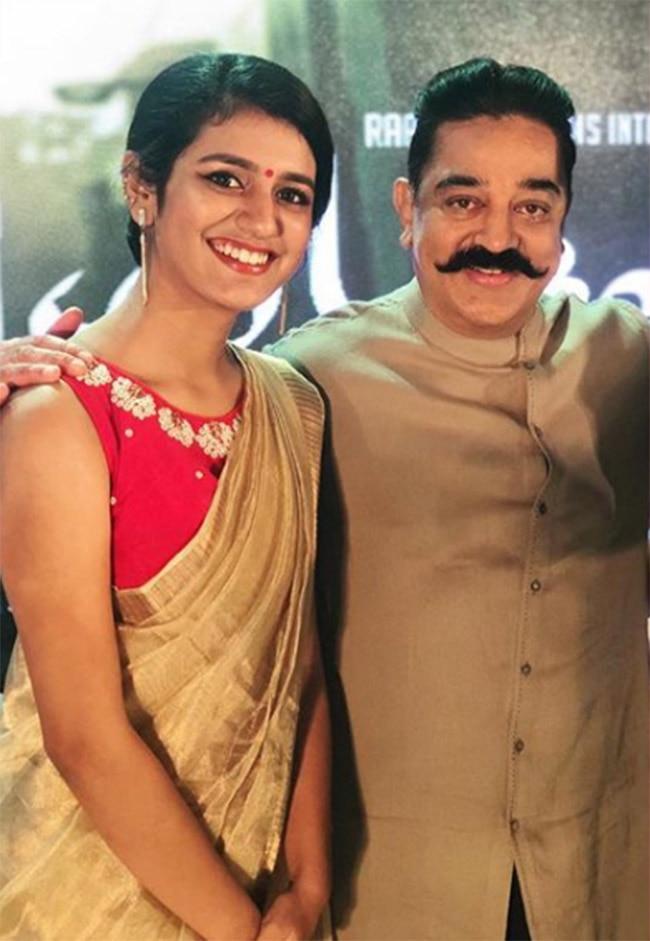 When Priya Prakash Varrier met her idol Kamal Haasan