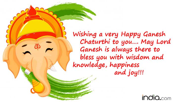 Wishing a very Happy Ganesh Chaturthi to you     May Lord Ganesh is always there to bless you with wisdom and knowledge  happiness and joy