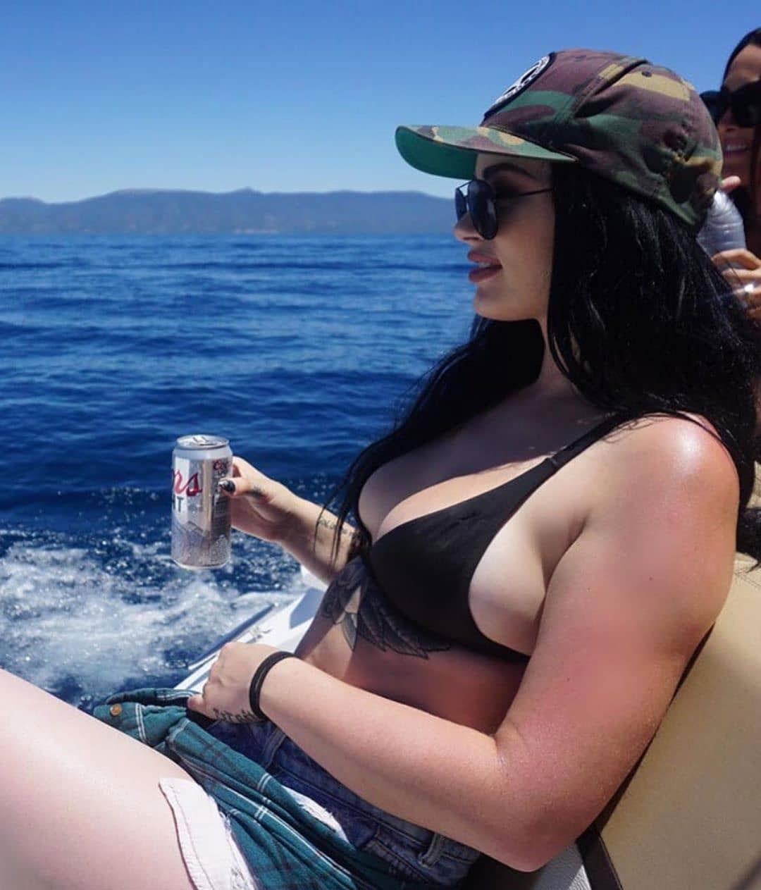 WWE Diva Paige on Holiday