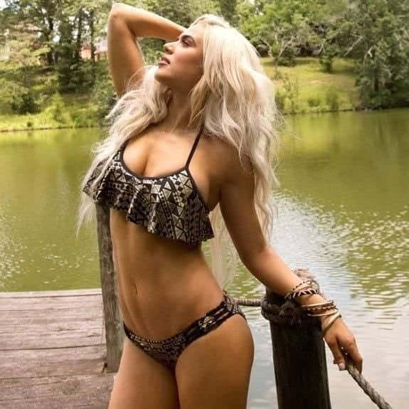 WWE Superstar Lana With a Sultry Pose