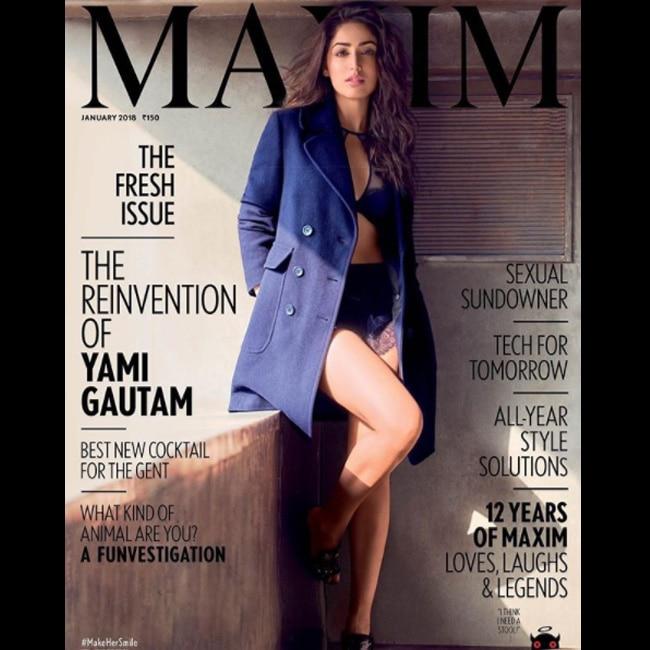 Yami Gautam on cover of Maxim January 2018 issue