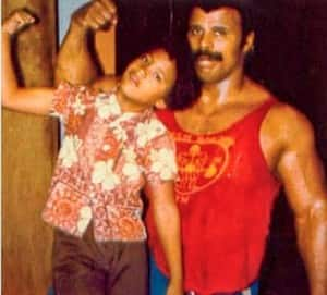 Rare Photos of The Rock Dwayne Johnson and Father Rocky Johnson - Remembering The WWE Legend