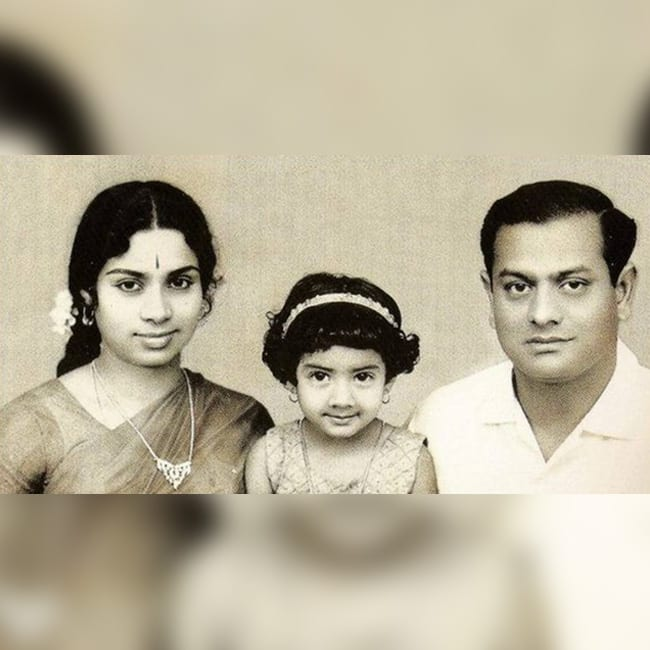 Young Sridevi with family
