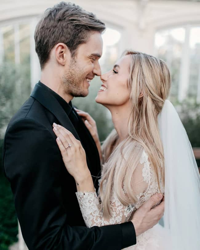 YouTuber PewDiePie And Marzia Bisognin Wedding Pictures Are as Beautiful as The Couple